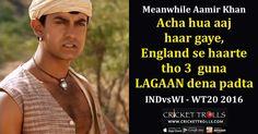 Meanwhile Aamir Khan after India vs West Indies match (WT20 – 2016) Cricket Trolls #Cricket #WT20 #INDvsWI #WIvsIND #AamirKhan #Lagaan Lagaan http://www.crickettrolls.com/2016/04/01/meanwhile-aamir-khan-after-india-vs-west-indies-match-wt20-2016/