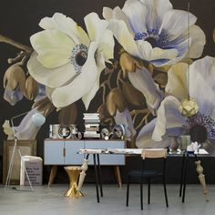 wallpaper mural by Diana Watson LUCIANAS GARDEN