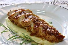 pavo, solomillo de pavo, puré de patatas, Julia y sus recetas, mostaza, salsa de mostaza,
