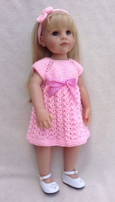 PDF pattern 40 Teddie Joy & Babs, a top down trio of dresses to fit most popular 18 and 19inch dolls.