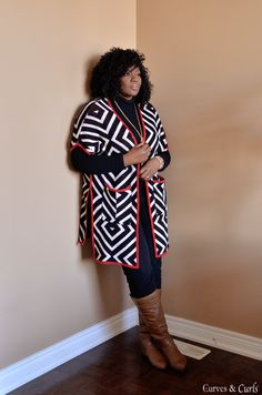 Plus size fashion for women. This cute cardigan is under $40.