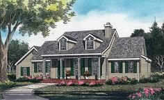 Home Plan HOMEPW13936 - 1579 Square Foot, 3 Bedroom 2 Bathroom Country Home with 2 Garage Bays   Homeplans.com