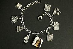 The Hermit Charm Bracelet. L' Eremita Bracelet Wheel Of Fortune Tarot, The Moon Tarot Card, Valentines Sale, Thing 1, Moon Charm, Initial Charm, Bracelet Sizes, Tarot Cards, Charm Jewelry