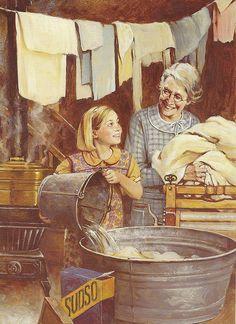 laundry day...réépinglé par Maurie Daboux ✺❃✿ ღ