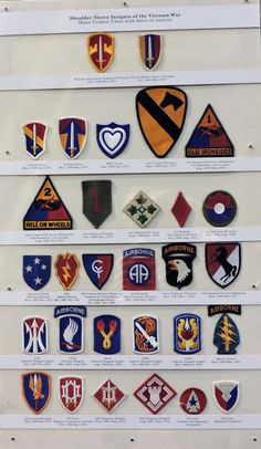 Army Unit Patches, Flag Patches, Military Ranks, Military Weapons, List Of Us Presidents, Ww2 Uniforms, Vietnam War, Us Army, Porsche Logo