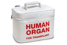 Human organ transplant lunch cooler. Best lunch bag ever.