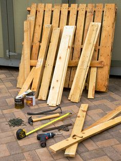 Pallet garden bench  What You'll Need: