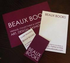 Beaux book have recently ordered lots of goodies to start their business - including one of our business starter packs. https://www.printed.com/order/business-starter-pack/62