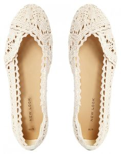 crochet lace shoes - ASOS #Crochet #Fashion
