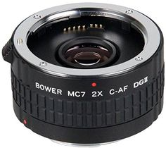 Introducing Bower 2x Teleconverter Lens 7 Element for Canon EOS T6i T6s T6 T5i T4i T3i T2i T1i T5 T3 XS SL1 80D 70D 60D 50D 7D 6D 5D. Great Product and follow us to get more updates!
