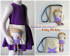 The Home of My Teeny-Tiny Dolls® - Handmade Fashion Dolls Tiny Dolls, Soft Dolls, Doll Clothes Patterns, Doll Patterns, Me Bag, Doll Carrier, Homemade Toys, Creation Couture, Sewing Dolls