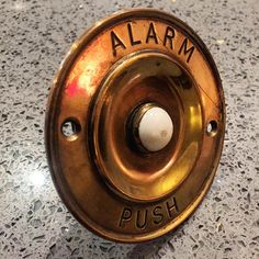 Lovely vintage brass ALARM PUSH button £4 #charityshopfind  (at Hampton Common)