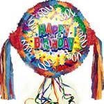 Birthday Explosion Happy Birthday Pull String Pinata