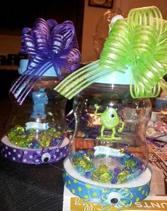 Monsters Inc.  Centerpieces by Connie Phifer