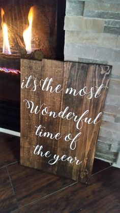 It's the most wonderful time of Year Christmas Holiday Pallet Sign Christmas Holidays, Christmas Crafts, Make Your Own Sign, Pallet Signs, Holiday Decorating, Wonderful Time, Pallets, Signage, Paint Colors