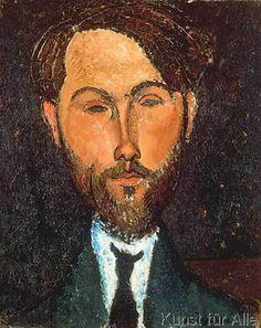 Amedeo Modigliani - Portrait de Leopold Zborowski