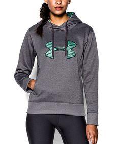 2d76d35c973b1f Under Armour® Carbon Heather   Teal Big Logo Appliqué Hoodie