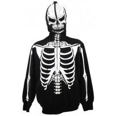 White Skeleton Full Zip Hoodie Full Zip Hoodie, Skeleton, Hoodies, Clothes For Women, Clothing, Outerwear Women, Outfits, Sweatshirts, Skeletons