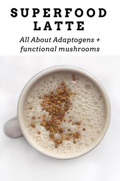 If you are looking to add a new latte recipe to your repertoire, try my superfood mushroom latte and get all the benefits associated with these functional shrooms! Yummy Drinks, Healthy Drinks, Vegan Recipes, Vegan Food, Food Food, Vegan Treats, Free Recipes, Easy Recipes, Latte Recipe