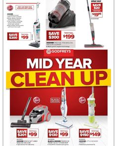 #godfreys have their #midyearsale . Good #bargains  on #vacuum and #mops .  Brands include #hoover and #blackanddecker #onsale until 28/6/16 #vacuuming #cleanfloors #cleanhouse #whypaymore #halfprice #betterthanhalfprice #jun16 #smartshopper #savvysaver