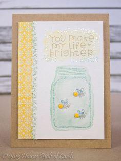 Happy Half-way Day! Firefly mason jar card