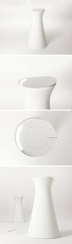 Inspired by the Chinese tea drinking, designer Lu Yicong developed GAP, an aromatherapy diffuser that mirrors this age-old process in an minimalistic, ultra-modern device. After placing the desired essential oils, inside, the user can activate the diffusing process by pressing the top section. The tilted top mimics that of the tea cup and allows the aroma to disperse for psychological and physical well-being.