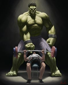 Hulk Trainer, aaron lewis is part of fitness - A body of work i did if superheroes had to get a day job Marvel Avengers, Marvel Art, Marvel Heroes, Marvel Comics, Captain Marvel, Ms Marvel, Avengers Series, Sport Motivation, Fitness Motivation
