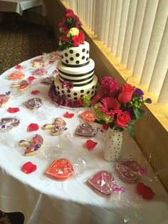 Cake table from the shower! Cake Table, Wedding Planning, Shower, Desserts, Inspiration, Food, Rain Shower Heads, Tailgate Desserts, Biblical Inspiration