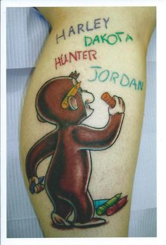 So cute! I would like to do this with my kids' names. Darin at Flaming Dragon Tattoo in Tacoma, WA.