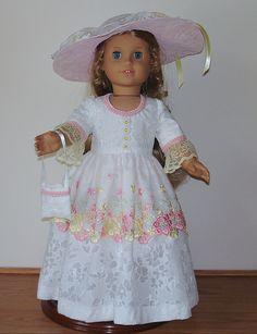 tea time- AG doll tea dress