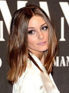The Long Bob Shiny straight long bob light brown