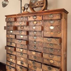 Beautiful piece - i think i have  pinned this before, but i have to do it again. love, love, love tiny drawers adn cubbies!