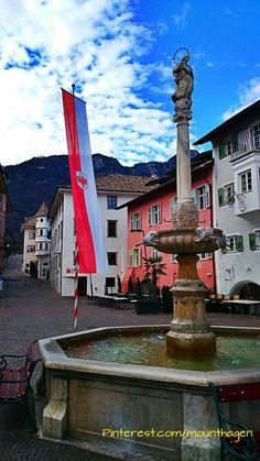 village square in #Kaltern, Südtirol or Alto Adige, north Italy