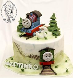 Torty by Tana Fire Cake, Thomas Cakes, Novelty Cakes, Cakes For Boys, Amazing Cakes, Fondant, Train Cakes, Desserts, Recipes