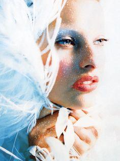 Linda Evangelista photographed by Javier Vallhonrat for Vogue Paris, October 1992