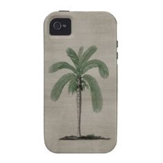 Vintage Palm Tree Vibe iPhone 4 Case