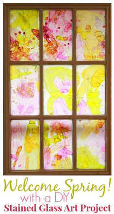 Welcome Spring with a DiY Stained Glass Spring Art Project for Kids    #springactivities #kidsactivities #kidsart #kidspainting #drawingactivities #springcrafts #creativity #springart #artfulparent