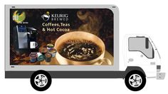 An early mockup of what one of the Keurig trucks looked like.