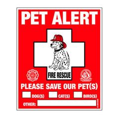 Pet fire safety...
