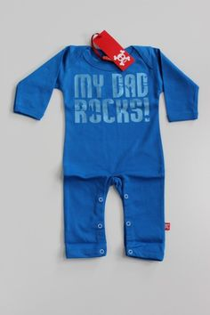 Baby Play Suit in Blue. My Dad Rocks