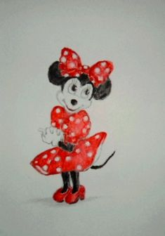 Baby Art, Minnie Mouse, Disney Characters, Fictional Characters, Fantasy Characters, Art Kids, Infant Art, Baby Artwork