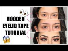 Eye shadow hacks with tape 33 trendy Ideas Big Eyelids, Hooded Eyelids, Droopy Eyes, Henna Designs, Mono Eyelid, Eye Makeup Red Dress, Tape Makeup, Belle Makeup, Eye Tape