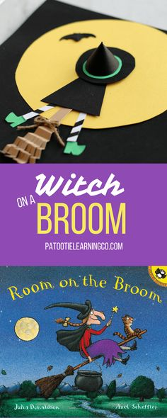 Check out this cute craft for Room on the Broom! Made from circles, squares, rectangles, and some fancy shoes, this craft would make a creative witch proud!