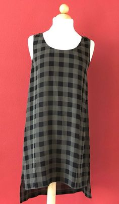 EILEEN FISHER Buffalo Check Printed Silk Tunic Top Size S NWT NEW $238 #EileenFisher #Tunic #Casual