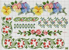 ru / Фото - A punto croce Speciale bordure - Los-ku-tik Cross Stitch Boarders, Cross Stitch Bookmarks, Cross Stitch Flowers, Cross Stitch Charts, Cross Stitch Designs, Cross Stitching, Cross Stitch Embroidery, Embroidery Patterns, Cross Stitch Patterns