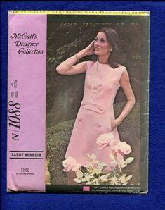 1960's McCall's 1088  Designer Larry Aldrich Jackie