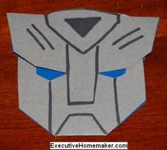 Make your own Autobot Transformer 3D invitations using this template.
