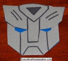 Transformers invitation template