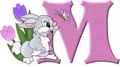 Alfabeto del conejito Tambor de Disney...M