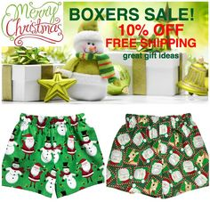 SALE! SALE! SALE! Make your Lil' One Christmas Special with a pair of our  Holiday Boxers. All of our kids Boxer Shorts are 10% OFF plus FREE SHIPPING! Make great Stocking Stuffers! Size: 12m to 5/6. Hurry before the sizes are going!! #fashion #christmas #christmasgifts #christmastime #xmas #xmasgifts #blackfriday #blackfriday2017 #blackfridaysale #shopping ##shoppingonline #thanksgiving #loveit #momlife